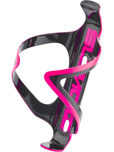 Supacaz Fly Cage Carbon Flaskeholder pink/sort